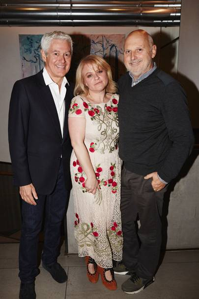 John Frieda, pictured with Nicola Clarke and Sam McKnight