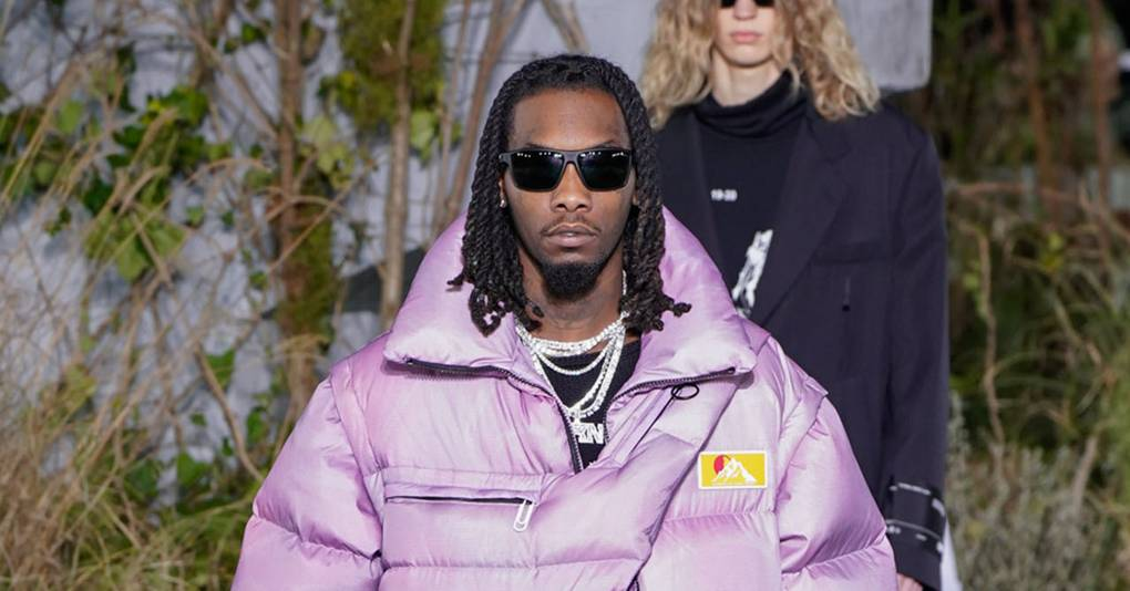 Offset Storms The Off-White Runway In Massive Lilac Puffer