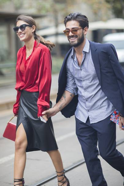 Patricia Manfield and Giotto Calendoli, bloggers