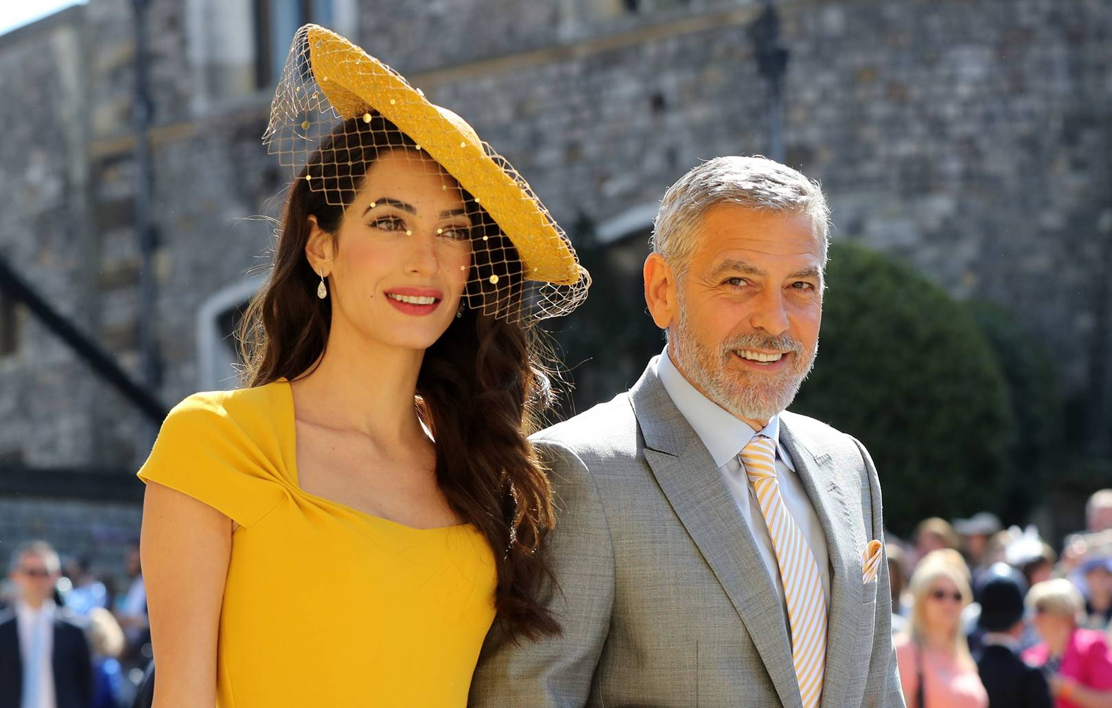 d679d490 The Yellow Stella McCartney Dress Amal Clooney Wore To Meghan And Harry's  Wedding Is Now For Sale | British Vogue