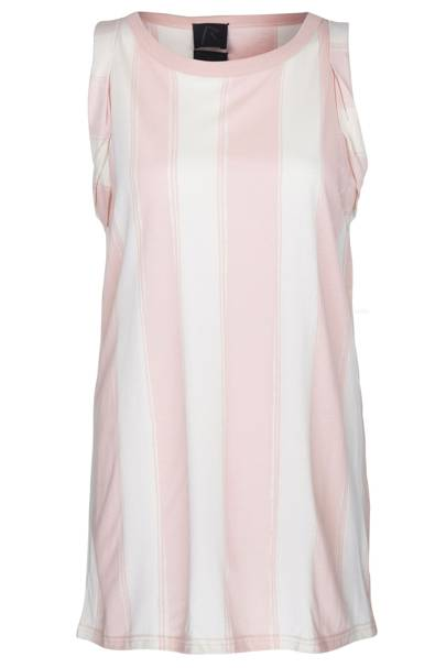 Pink striped cotton vest, £20