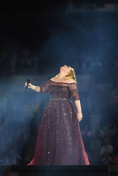 A same-sex couple got engaged on stage at Adele's Melbourne concert last  night