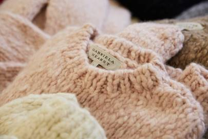 Knitted cashmere sweaters by Gabriela Hearst