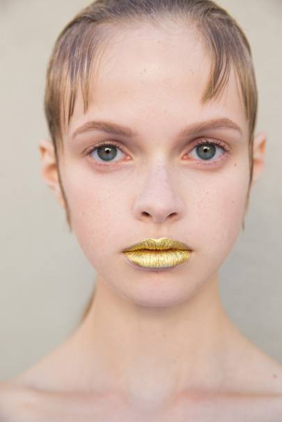 The Talking Point: Prada's Gold Lips