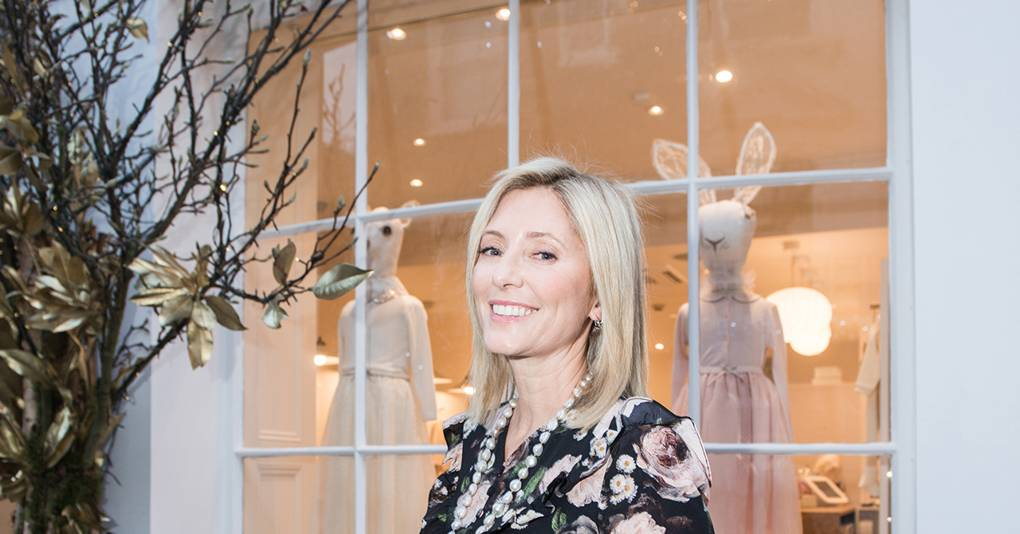 You'll Find Princess Marie-Chantal Folding Cashmere Sweaters In Her New Flagship Store