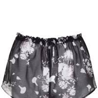 Floral print sheer shorts, £25