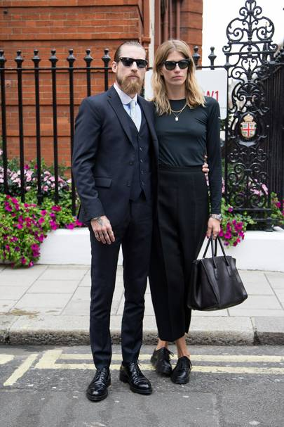 Justin O'Shea and Veronica Heilbrunner