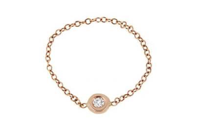 Maya J NYC Diamond Bezel Chain Ring, $220