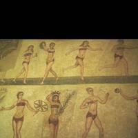 Bikini Girls Mosaic Sicily, Italy