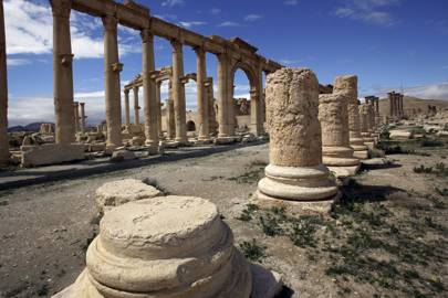 The 1st-century Temple of Bel in Palmyra - which Isis destroyed with explosives in 2015
