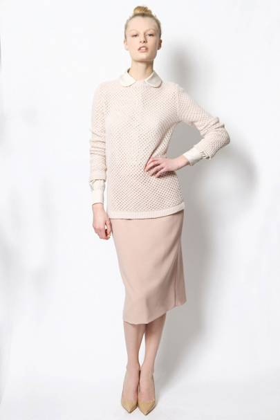 Jumper , £395; skirt, £295; shirt, £330