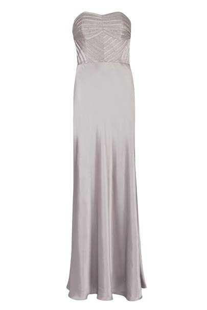 Strapless evening dress, £399