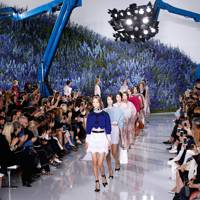 The Christian Dior runway