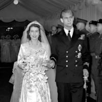 Queen Elizabeth II and Lt Philip Mountbatten