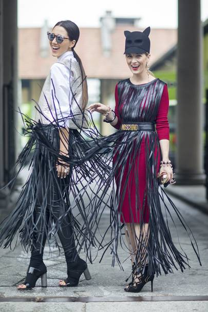 Diana Enciu, stylist, and Alina Tanasa, stylist