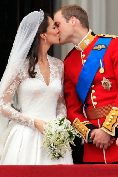 The Newly Titled Duke And Duchess Of Cambridge Appeared On Balcony Buckingham Palace For Royal Airforce Flypast To Seal Their Marriage With A