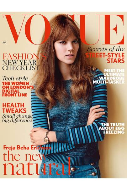 Vogue cover, January 2015
