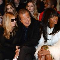 Celebrity front row antics