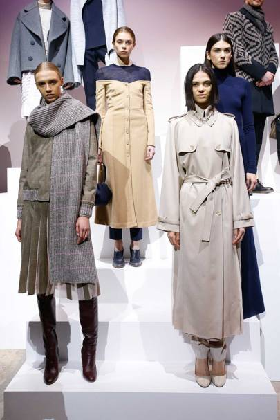 Gabriela Hearst's Woolmark collection on display in Paris in January 2017, when she was announced the winner of the 2016-17 International Woolmark Prize