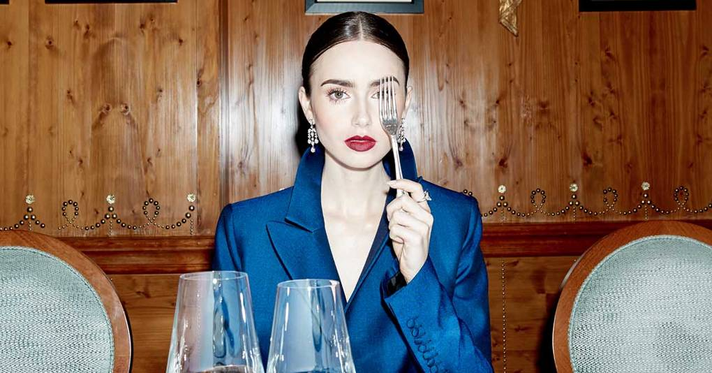 Behind The Scenes With Lily Collins At Last Night's BAFTAs