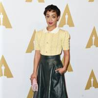 In Miu Miu at the 89th Annual Academy Awards nominee luncheon, February 6 2017.