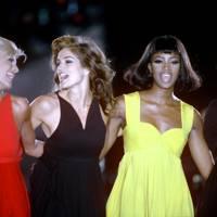 Linda Evangelista, Cindy Crawford, Naomi Campbell, Christy Turlington, 1991
