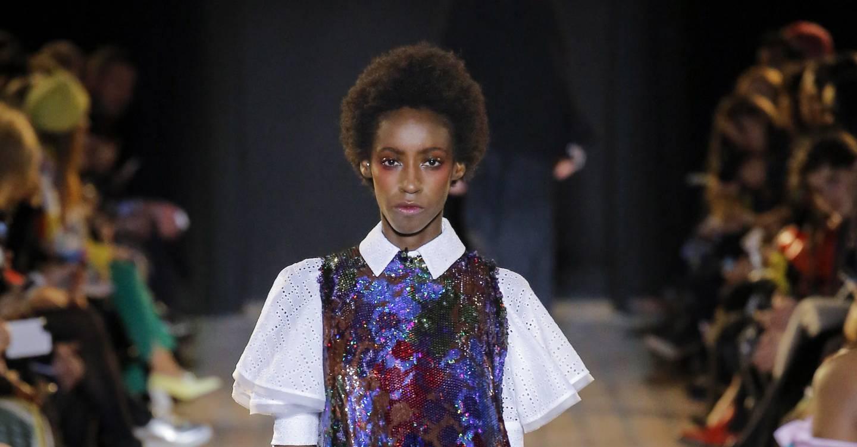 Fashion style Report beauty blue velvet at kenzo fall for girls