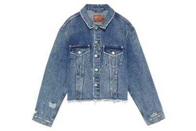 Classic faded denim jacket, £49.99