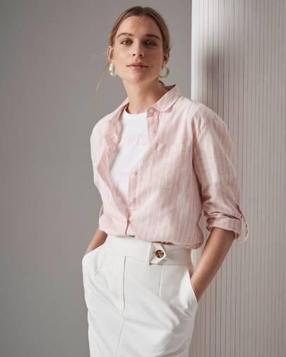 15bb9cd84c4e7a M&S Collection shirt, £15, T-shirt, £6.50, skirt, £25, earrings, £7.50.