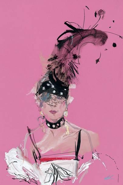 Anna Piaggi by David Downton, 2001
