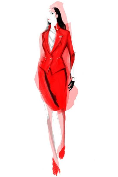 Vivienne Westwood's women's Virgin Atlantic uniform