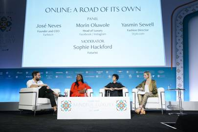 José Neves, Morin Oluwole and Yasmin Sewell discuss luxury and technology with Sophie Hackford.