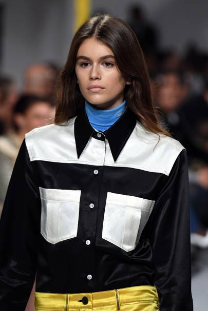 6f8f2f62 Kaia made her catwalk debut at Raf Simons's sophomore collection for Calvin  Klein 205W39NYC. Indigital. September 7 2017
