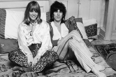 With Keith Richards in 1969