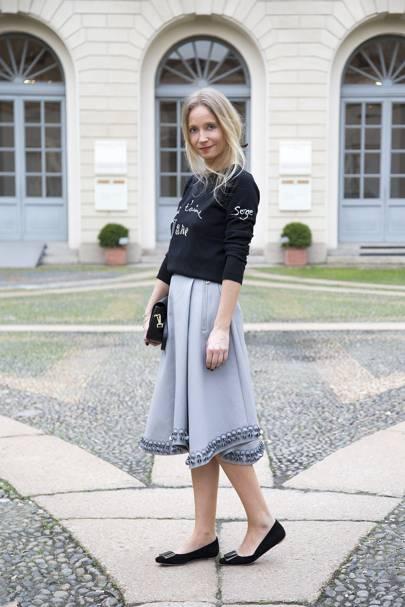 Martha Ward, fashion stylist and presenter