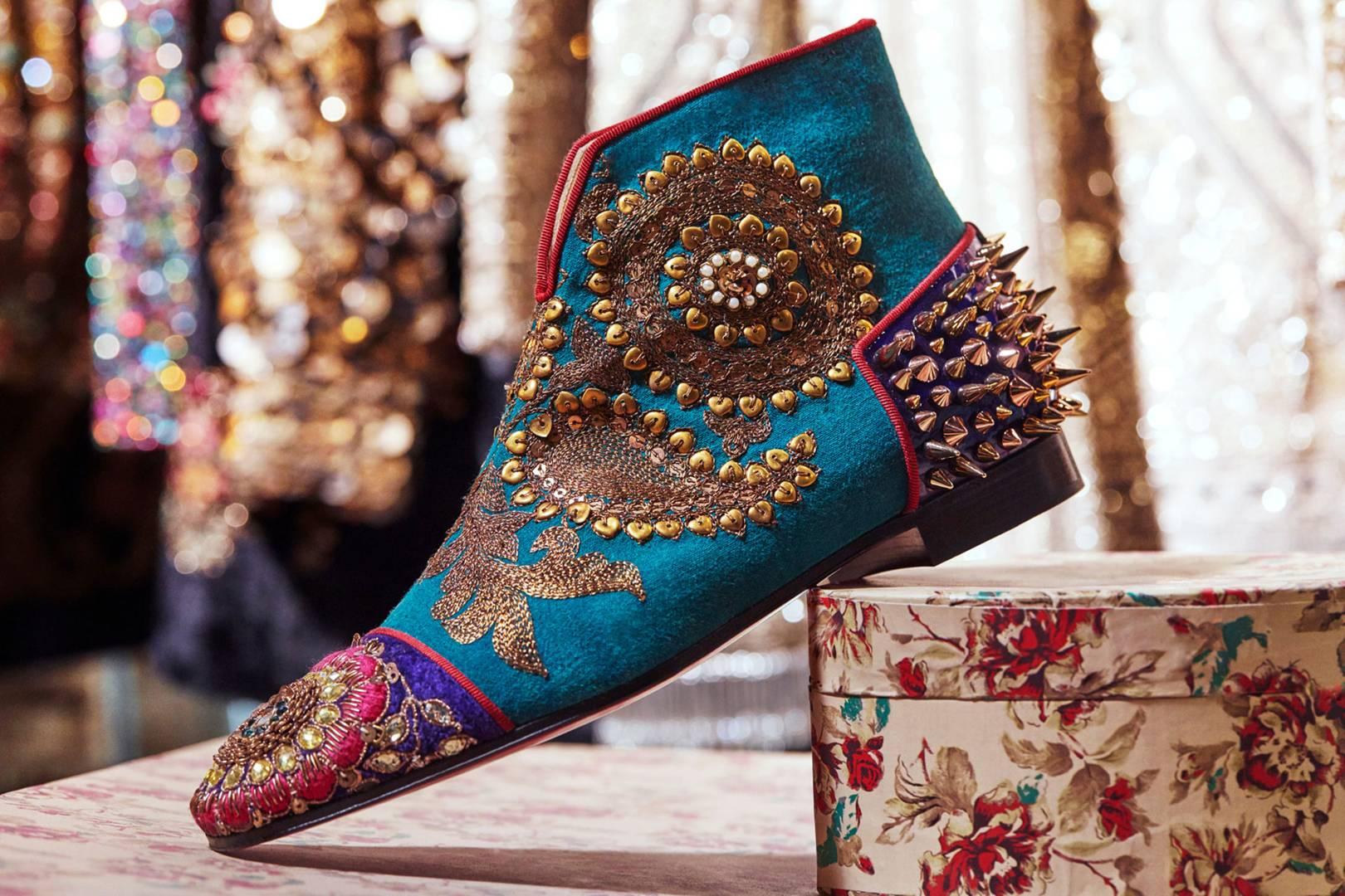 58c8f005ec40 Christian Louboutin Shoe Footwear Collaboration Sabyasachi Mukherjee ...