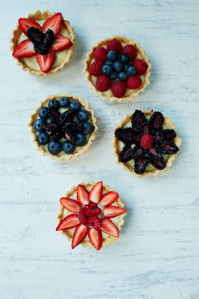 Summer berry tarts