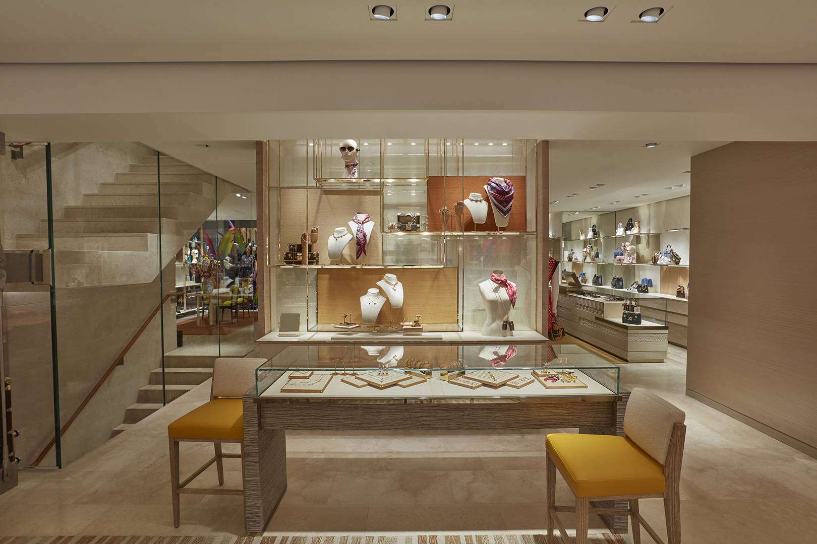 b52edcb6858 A First Look Inside The Modern Brutalism Of Louis Vuitton s New Store