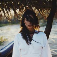 White Linen Karate Wrap Top by The Forest Said