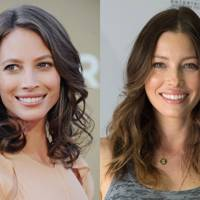 Christy Turlington and Jessica Biel