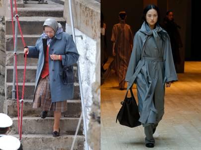 The Regulation Blue Raincoat, at Céline