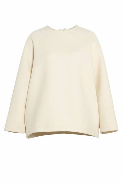 Cream jumper, £350, Studio Nicholson
