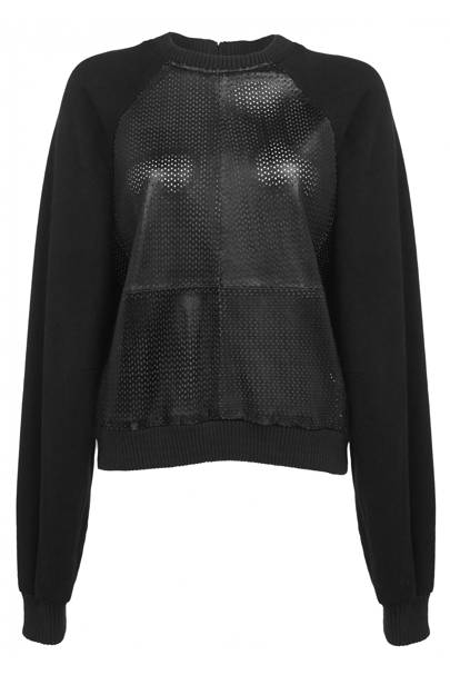 Black vRed limited edition leather mesh jumper, £80