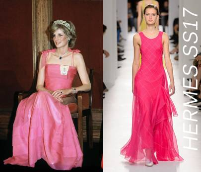 5. The floor-length fuchsia slip