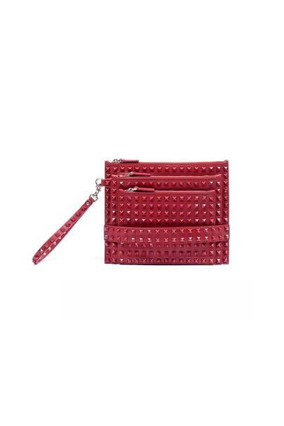 Valentino Rockstud Rouge multi-zip pouch, £1,290