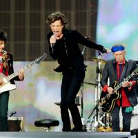 The Rolling Stones on stage in Hyde Park