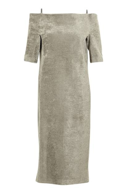 Grey dress, £1,238, Lucas Nascimento
