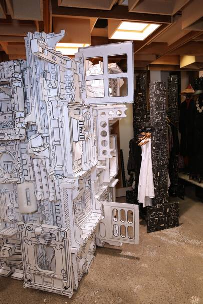 Artists' installations and collaborations are found throughout the store