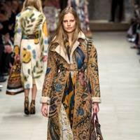 The hand-painted shearling coat