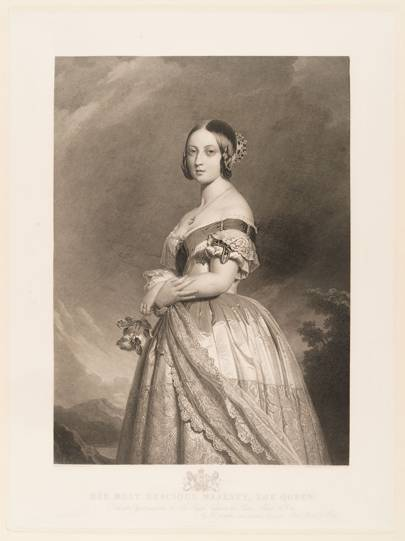 Historical Images of Queen Victoria's Sapphire and Diamond Coronet in Royal Portraits